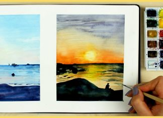 12 Outdoor Watercolor Painting Materials