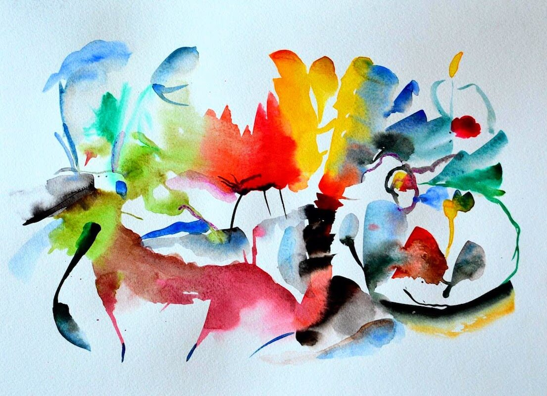10 Easy Abstract Watercolor Painting Steps Tropic Drawing