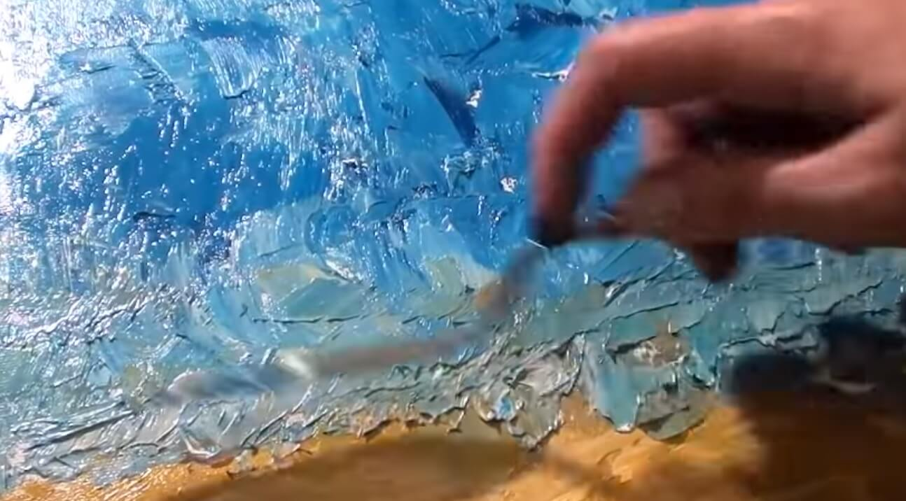 Abstract Painting Using A Palette Knife