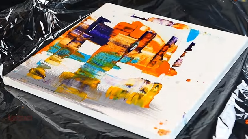 Step-by-Step Abstract Painting Using A Spatula