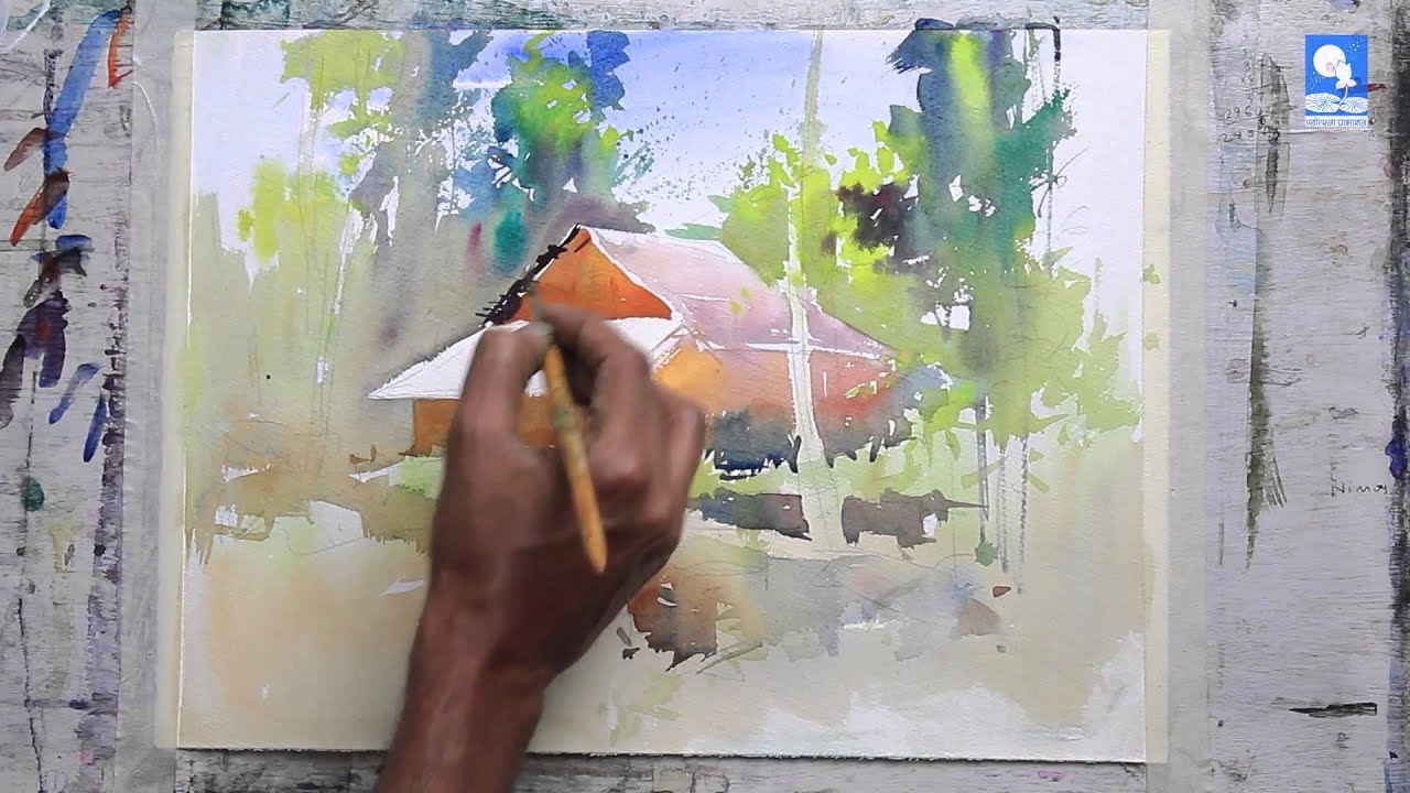 Wet-On-Wet And Wet-On-Dry Painting Technique