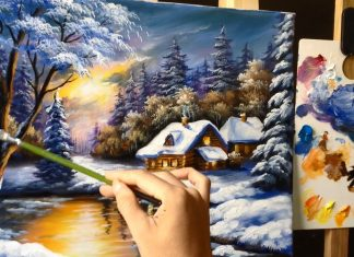 3 Winter Landscape Acrylic Painting Tips