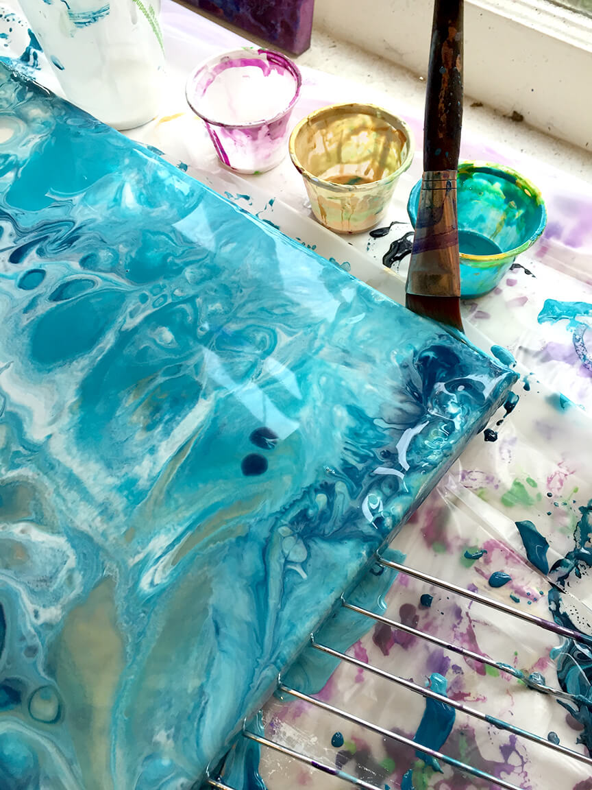 7 Essential Materials For Fluid Acrylic Pouring Technique