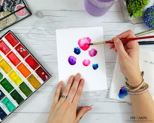 Easy Watercolor Flower Tutorial Steps For Beginners