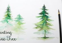 Watercolor paintingn -7 Easy Tricks For Watercolor Pine Tree Painting Tutorial