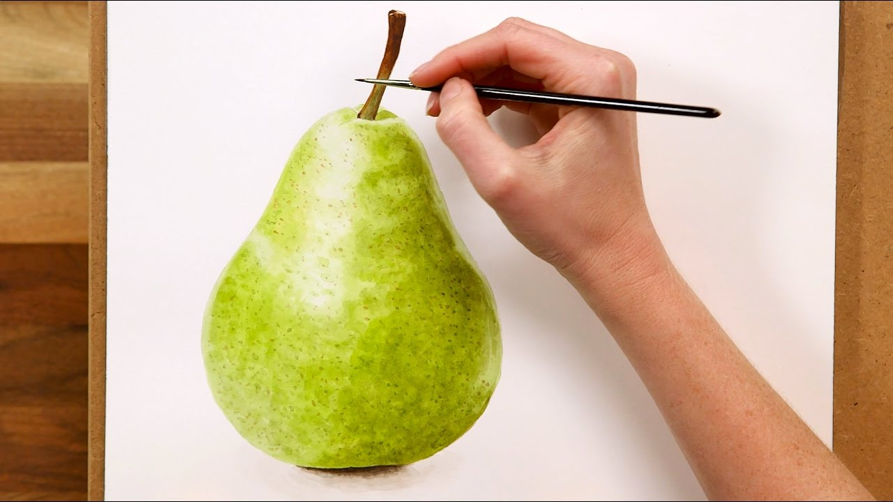 8 Easy Steps To Watercolor Pear Painting Tutorial