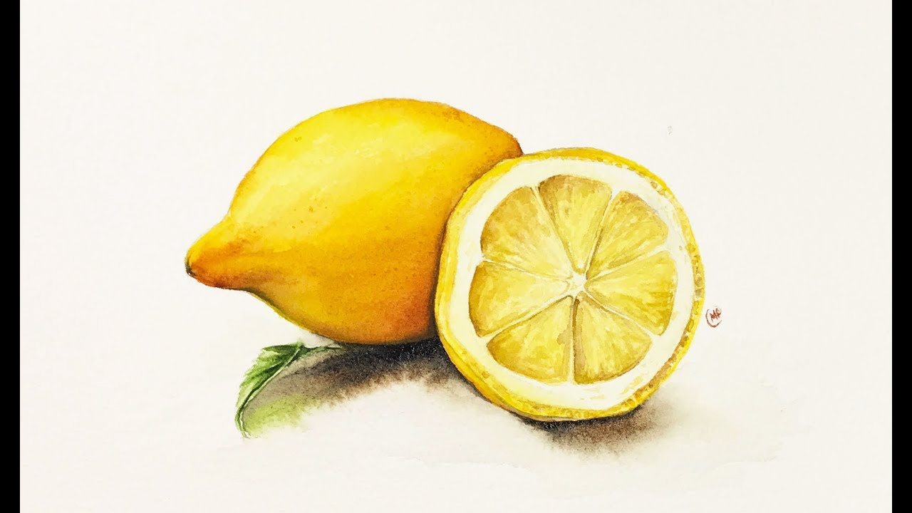 Watercolor Lemon Painting