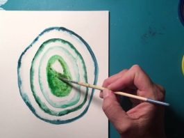 Agate painting - 5 Easy Steps For Watercolor Agate Painting Tutorial