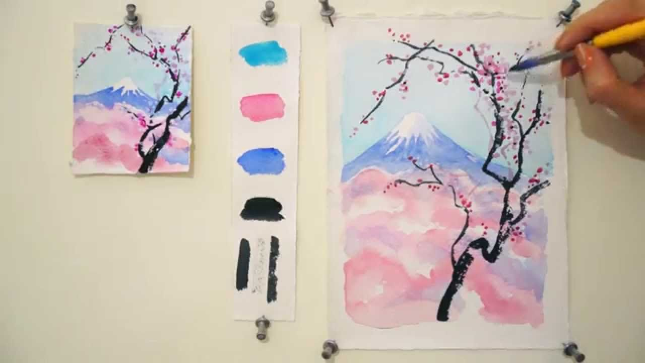 watercolor painting - 7 Easy Watercolor Spring Tree Painting Tutorial