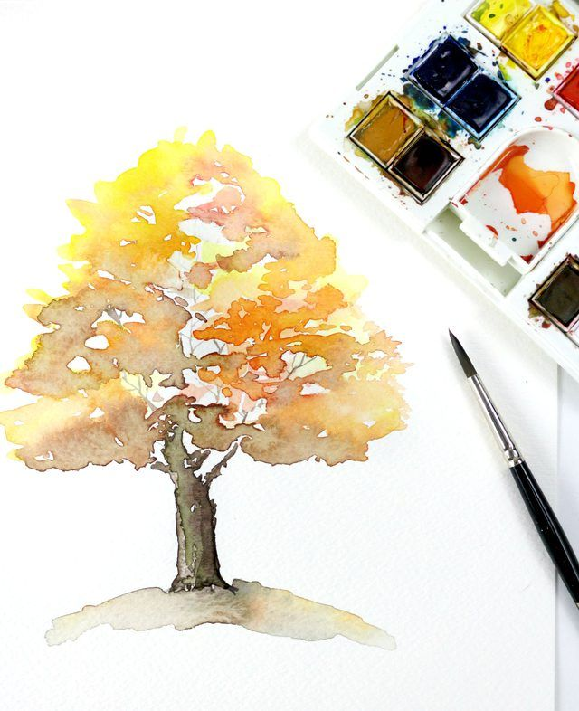 Watercolor ideas - 7 Easy Watercolor Spring Tree Painting Tutorial