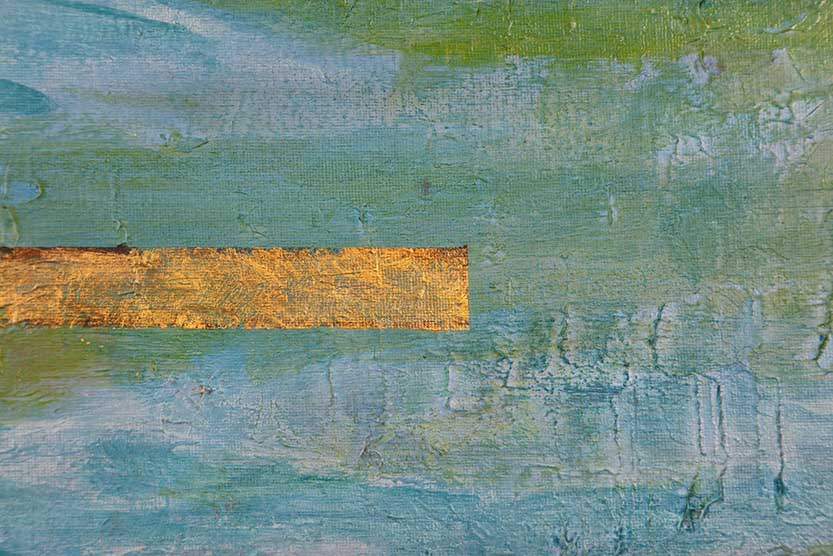 Stunning 5 Ways To Add Gold Leaf On Your Acrylic Paintings 6