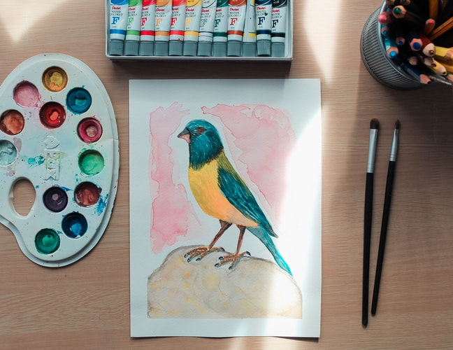 How To Paint A Bird With Watercolors In 9 Easy Steps!