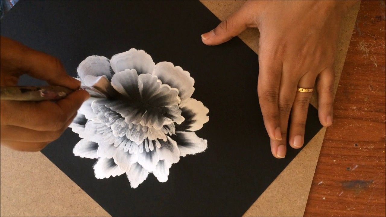 How To Paint Acrylic Flowers Using The Layering Technique