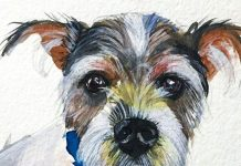 How To Paint A Dog With Watercolors
