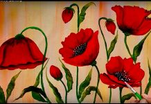 5 Easy Guide For Poppy Flower Acrylic Painting