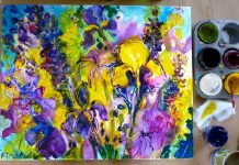 7 Easy Steps For Iris Flowers Using Acrylics
