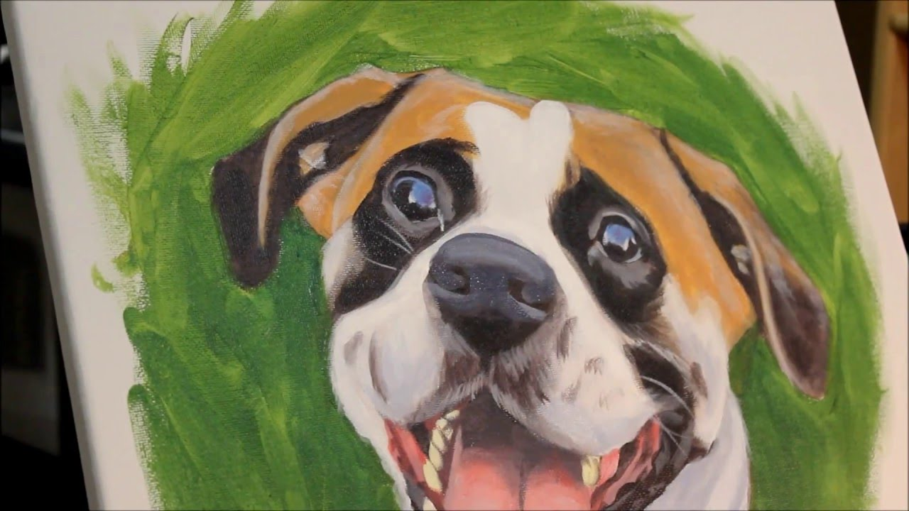 6 Easy Steps To Paint A Dog With Acrylic Paints