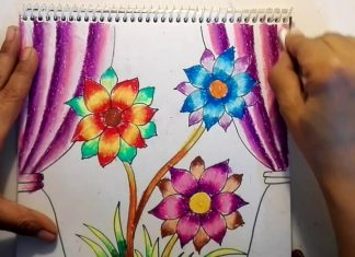 Easy Flower Oil Pastel Painting Tutorial