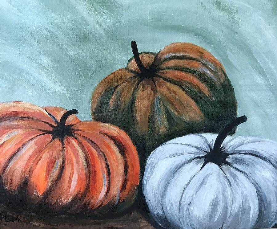 How to Paint A Pumpkin Using Acrylic Paints