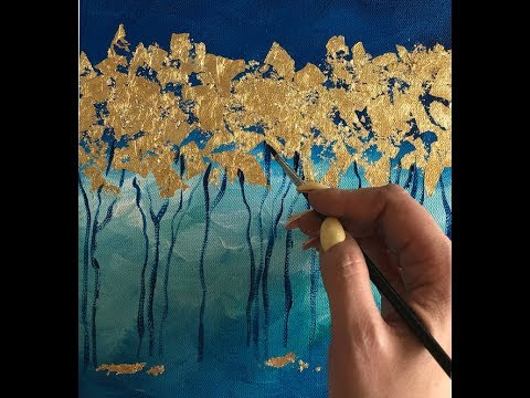 gold leaf in oil painting with 5 easy steps