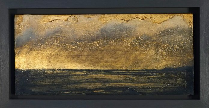 Gold leaf in oil painting