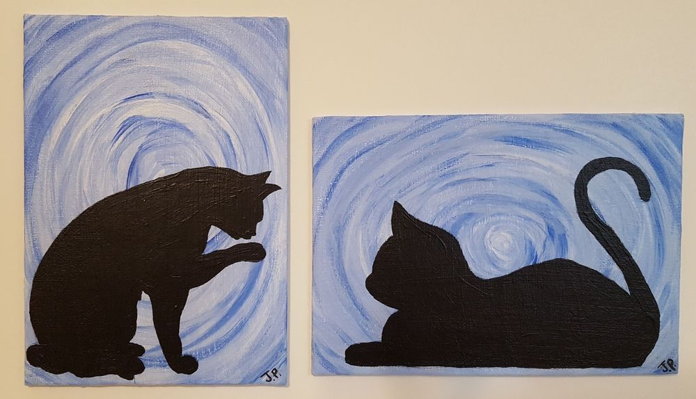 5 Easy Steps For Cat Acrylic Painting Tropic Drawing