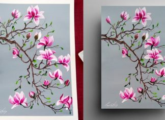 5 Easy Blooming Magnolia Acrylic Painting