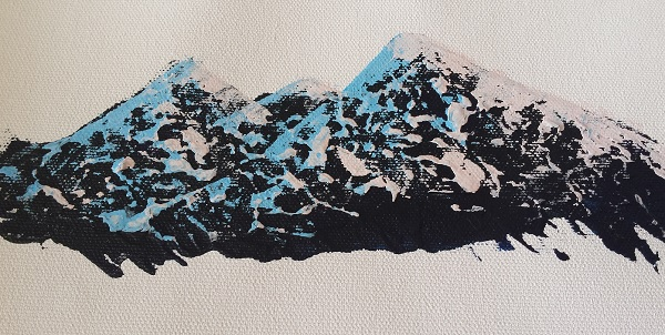 3 Simple Steps For Realistic Mountain Ranges Acrylic Painting