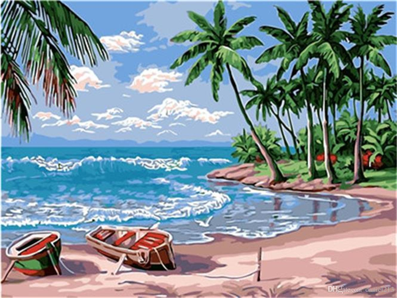5 Easy Steps For Beach Landscape Acrylic Painting