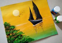 8 Easy Steps For Seascape Acrylic Painting