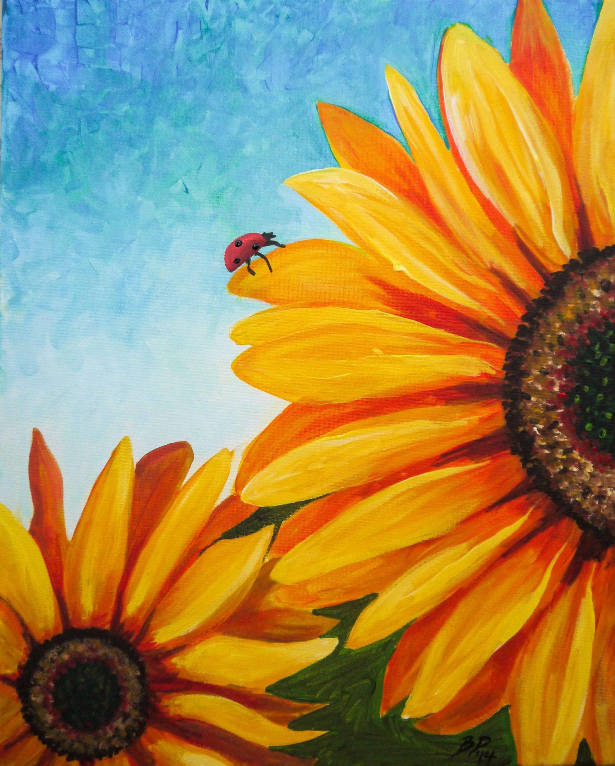 Running-Out-of-Painting-Ideas-?-Here-are-5-Tips-!-#-1-Sunflowers