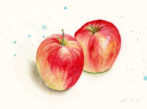 Tips to Paint Apple Using Watercolor