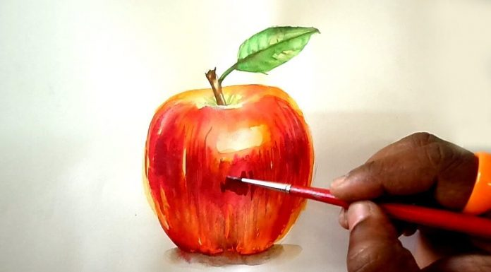 6 Tips to Paint Apple Using Watercolor