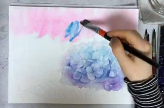 How To Paint Watercolor Hydrangeas 31