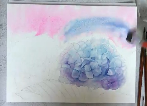 How To Paint Watercolor Hydrangeas