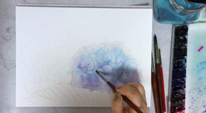 How-To-Paint-Watercolor-Hydrangeas
